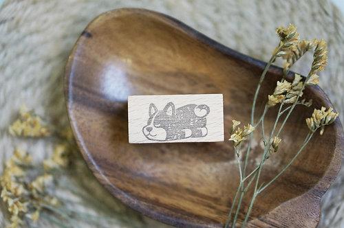 Black Milk Project Rubber Stamp -Engawa Napping Shiba Inu