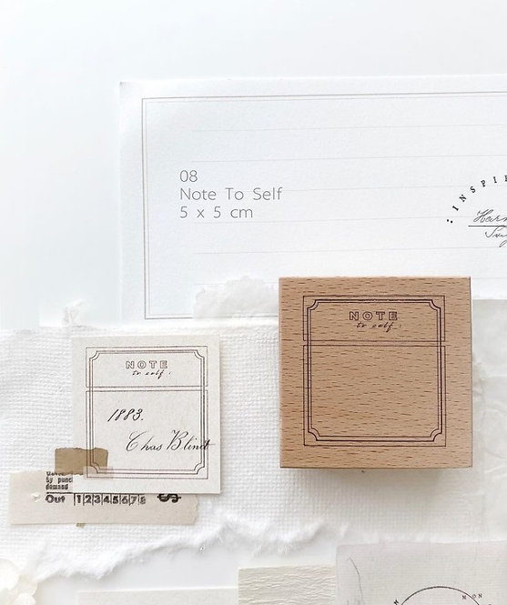 Nyret Note To Self Rubber Stamp