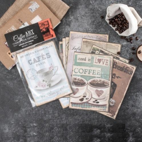 vintage coffee cup papers