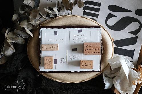 Kurukynki - Mini Words Rubber Stamp Series2