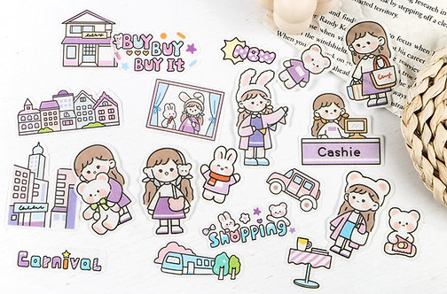 Cute Girl Carnival Sticker Flakes Pack