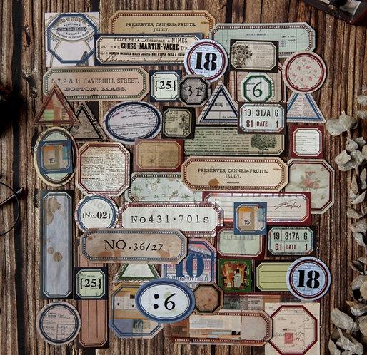 Retro Label Sticker Sheets (Choose Design)