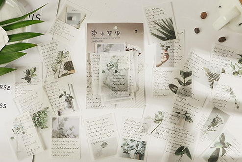 plants and quotes stickers