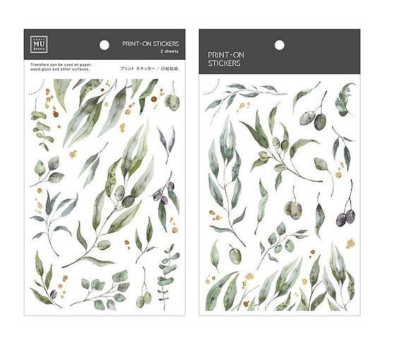 MU Print-On Sticker - Olive 156