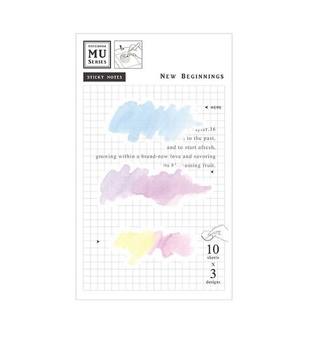 MU Watercolor Translucent Sticky Note Chap.16 New Beginnings