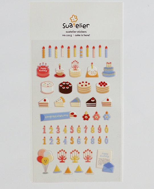suatelier sticker cake is here 1113