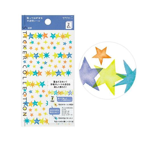 midori planner stickers stars