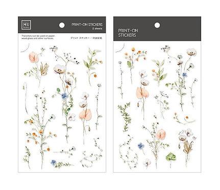 MU Print-On Sticker - Flower Shadows 160
