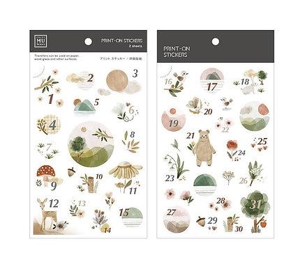 MU Print-On Sticker - Date Cute Nature 165