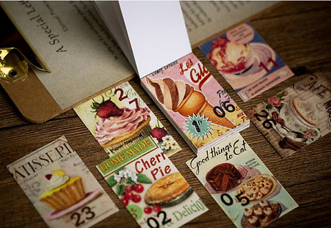 paper ephemera booklet vintage dessert