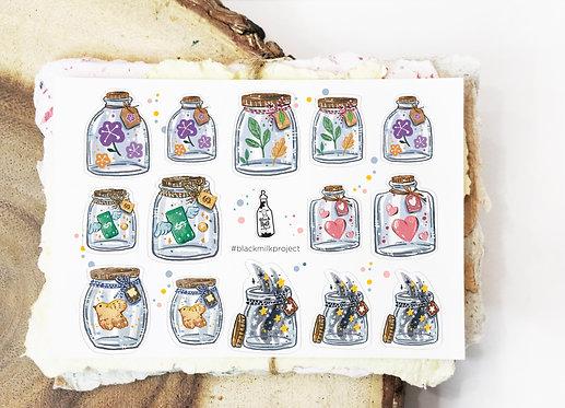 Black Milk Project Mini Stickers - Mini Jars