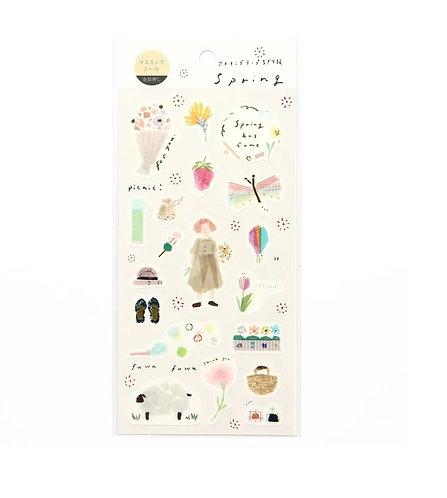 miki tamura spring sticker