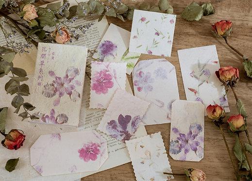 Purple Watercolor Flower Papers in Box