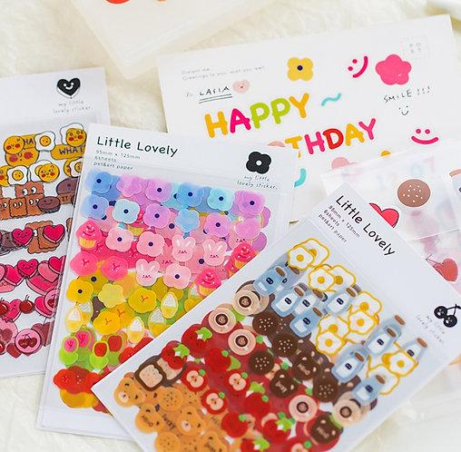 Little Lovely PET Sticker Sheets (Choose Design)
