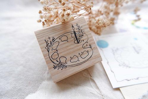 Labiri Palette des fleurs rubber stamp