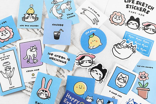 I Am Cat Life Sketch Sticker Flakes Pack