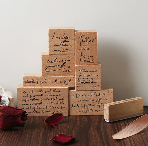 positive quotes rubber stamps set
