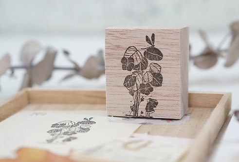Black Milk Project rubber stamp Dragonfly Bush
