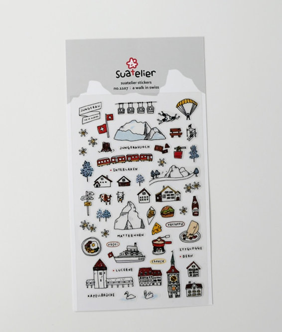 Suatelier Stickers - A Walk In Swiss (No. 1107)
