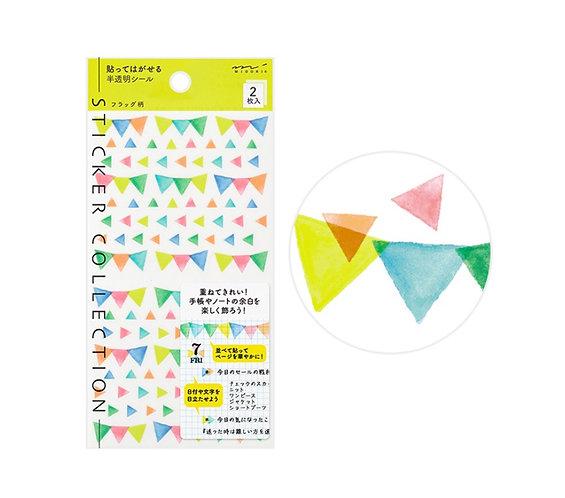 midori planner stickers buntings
