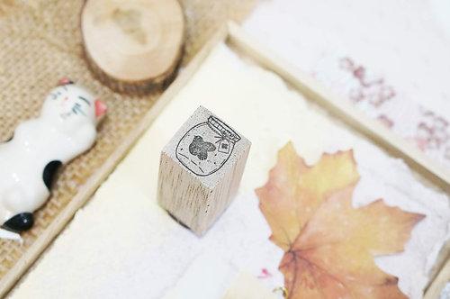 Black Milk Project rubber stamp Mini Jar Bird