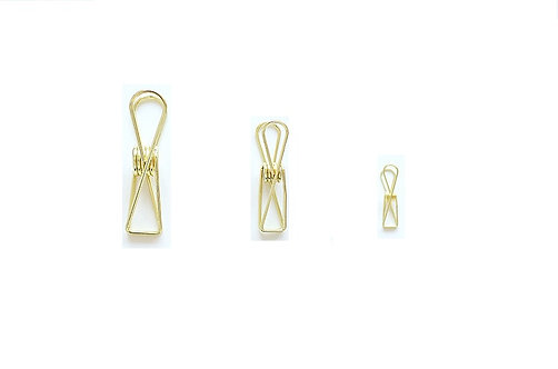 Gold Simple Clips (Choose Small, Medium or Large)