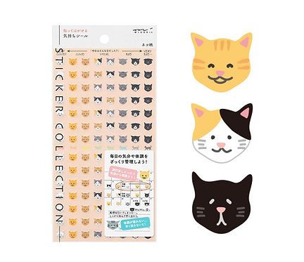 Midori Planner Stickers Cat Feelings Emotions