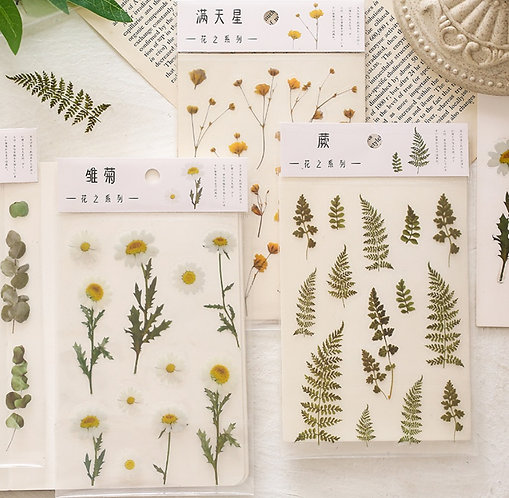 Floral sticker sheet