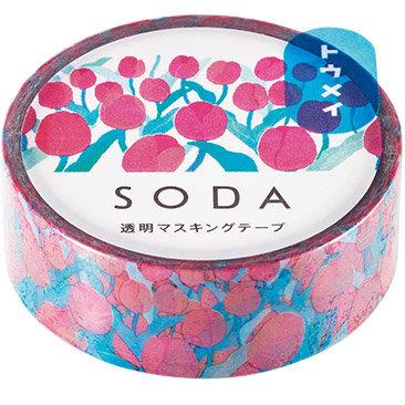 SODA Transparent Masking Tape - Tulips CMT15-008