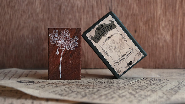 Jieyanow Atelier Garden of Inspiration rubber stamp