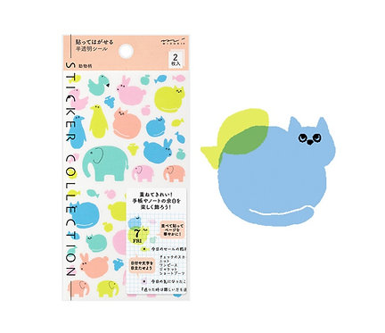midori planner stickers animals