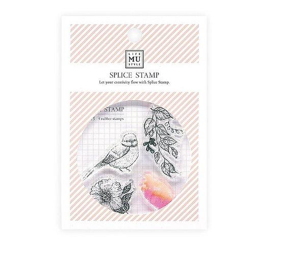 MU Bird Floral stamps