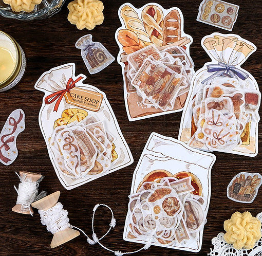 Bread Washi Sticker Flakes Pack (Choose Pack)