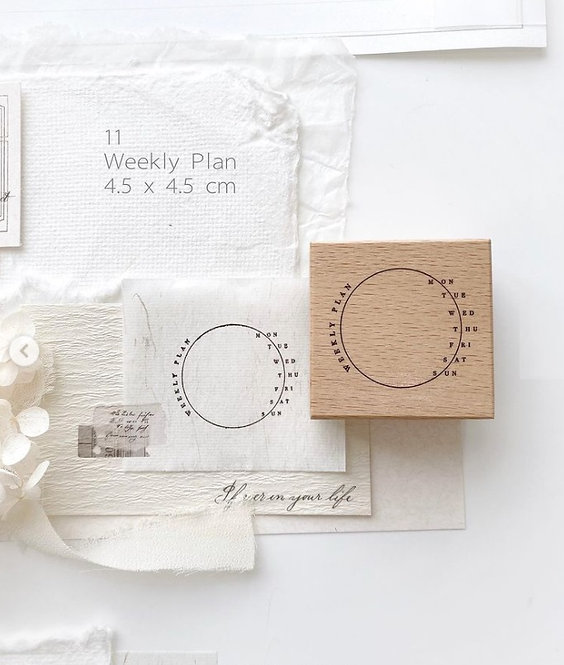 NYRET Weekly Plan Rubber Stamp