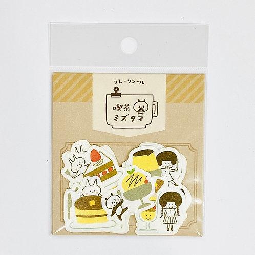 mizutama tea shop sticker flakes desserts