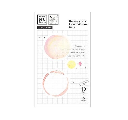 MU Watercolor Translucent Sticky Note Chap.10 Hippolyta's Peach Color Belt