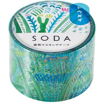 SODA Transparent Masking Tape - Garden CMT30-005