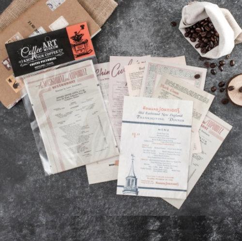 vintage restaurant menu paper