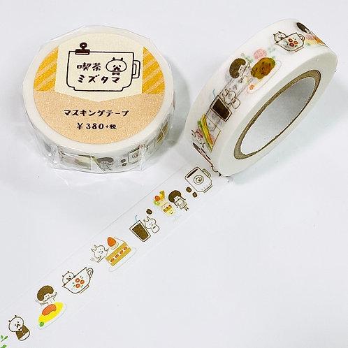 mizutama cafe washi tape masking tape