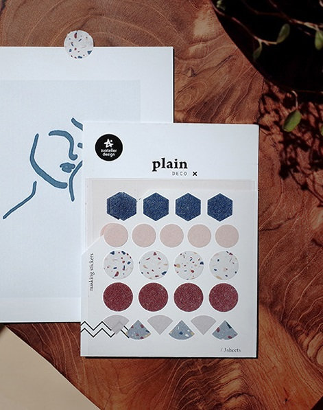 suatelier stickers, plain deco sticker