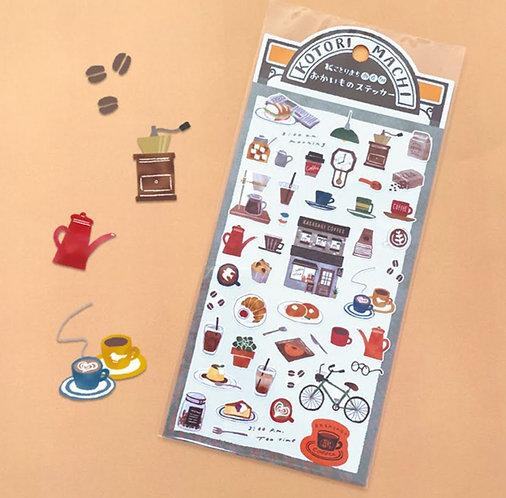 Mind Wave Kotori Machi Coffee Shop Stickers