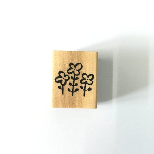 flower rubber stamp, kodomo no kao