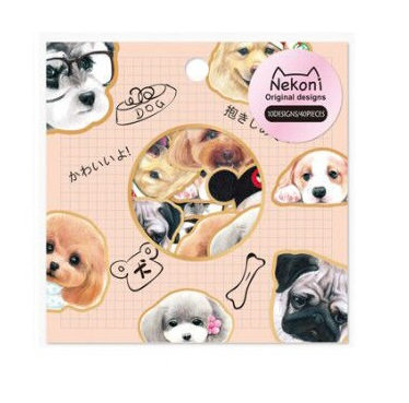 dog sticker flakes