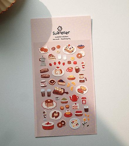 Suatelier Stickers - Food Trip #4 (No. 1116)