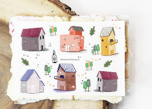 Black Milk Project Mini Stickers - Houses