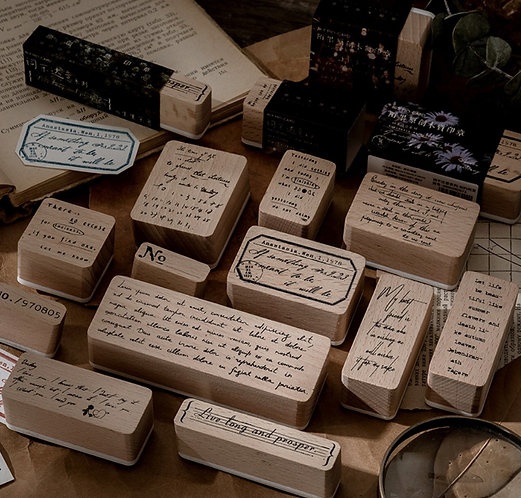 Positive Quotes Rubber Stamps (Choose Design)
