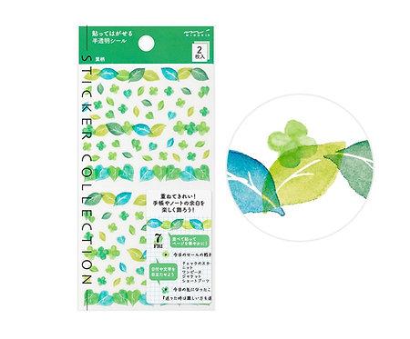 Midori Planner Stickers Leaves