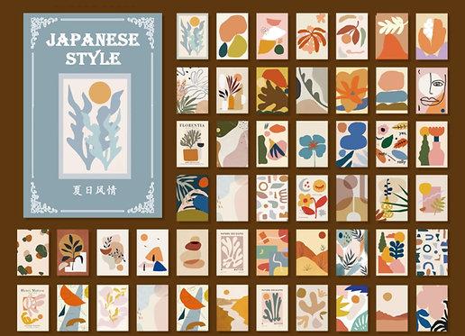 japanese style vellum paper booklet