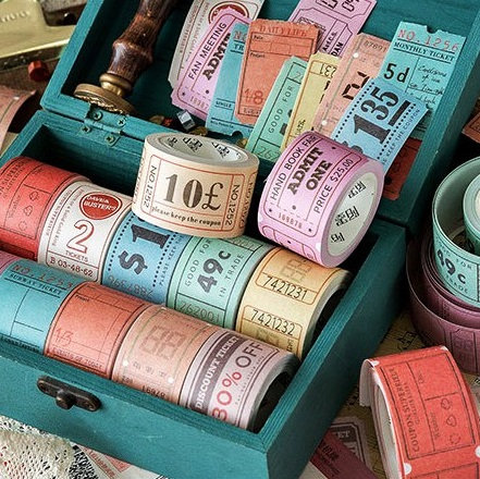 vintage ticket tapes
