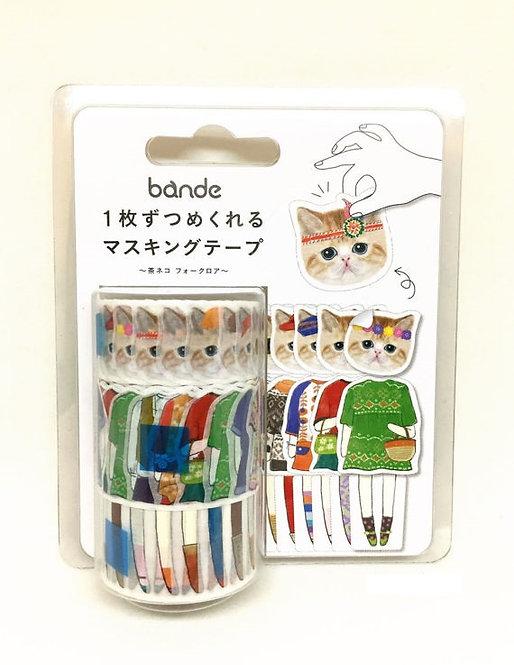 Bande Cats Women Sticker Washi Tape (3 rolls)